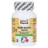ZeinPharma Cholin-Inositol 60 Kapseln • hochdosiert 450mg Cholin und 450mg Inositol • Hergestellt in Deutschland • für einen normalen Fettstoffwechsel • Vegan