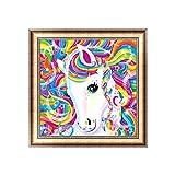 Dabixx 5D DIY pintura de diamante, unicornio 5D bricolaje pintura por números diamantes bordado pintura punto de cruz Kit DIY decoración del hogar 30 × 30 cm