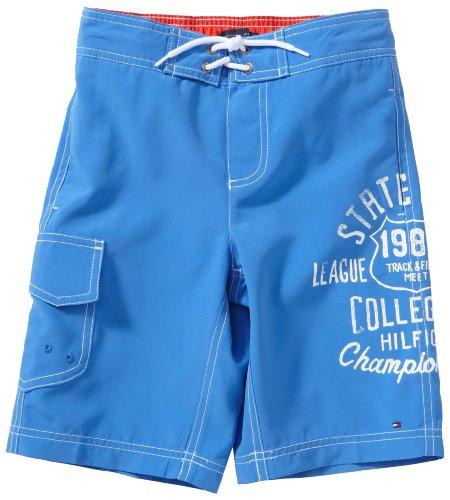 Tommy Hilfiger niño Swimming - Bañador de natación para niño, tamaño 10 años, Color Azul Claro
