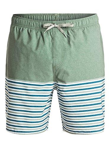 """Quiksilver Waterman Breezy Stripe 18"""" - Short de bain pour Homme EQMJV03005 Vert - Wreath"""