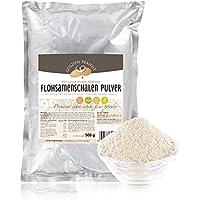 Premium Flohsamenschalen Pulver 99% fein gemahlen, geprüfte Lebensmittelqualität, 500g Beutel