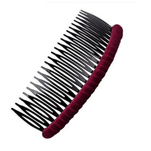 Femmes élégantes cheveux Big Clip, ensemble de 2, rouge vin