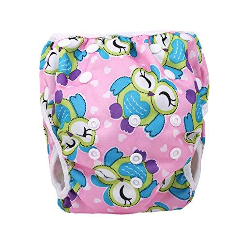 rainerhosen Badehose, Baby Benutzbare Schwimmwindeln Einstellbar Diapers Leakproof Wassersport Bademode (Eule) ()