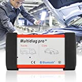 Professionelle Multidiag Pro + Diagnosewerkzeug OBD Diagnosescanner Vollen Satz Diagnoseausrüstung Für Auto Fahrzeug Lkw (Farbe: rot & schwarz)