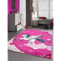 Kids rugs children´s carpet unicorn pink