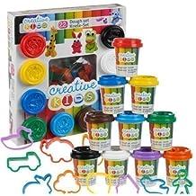22 piezas Pasta de moldear set y accesorios 10x55g