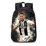 Zaino Football Star Zaino Juventus Soccer Club Zaino in poliestere Studente/Zaino per bambini Zaino Fashion (Grades 1-3)