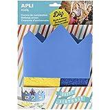 Apli Kids–14478EVA espuma azul cumpleaños corona compatible con todos los (un tamaño)