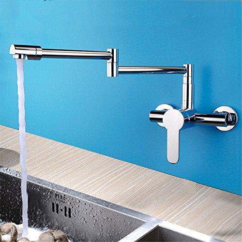 Good quality Antiquitäten Becken Spül Mischer Tap Küche Klapphahn heiß und Kalt All-Kupfer Wand montiert rotierende Shampoo Einlochmontage Waschbecken Waschbecken Wasserhahn
