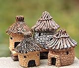 BaBaSM Praktisch Bauernhaus Stil Fairy Cottage Landschaft Dekor Harz Haus Garten Ornament