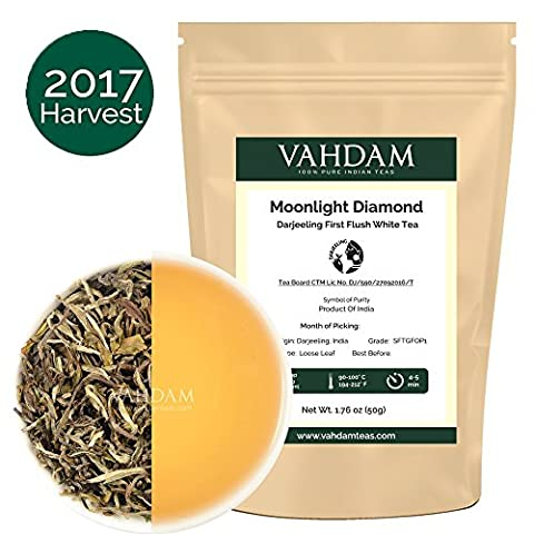 Diamond MOONLIGHT White Tea Leaves from the Himalayas (25 Cups)