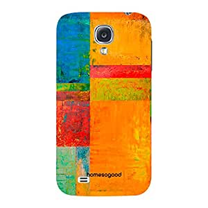 HomeSoGood Bright Wall Painting Multicolor 3D Mobile Case For Samsung S4 ( Back Cover)