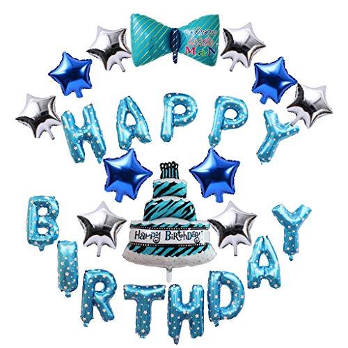 Amycute 15 Stück Ballon Geburtstag Dekoration Set Luftballon Cartoon Tier Happy Birthday Buchstaben Folienballon Latex Ballons für Mädchen und - Zeiten Halloween-cartoons Aller Beste