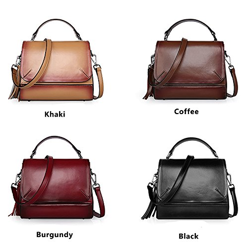 Sheli Damen Lederrucksack Vintage Antitheft Leather Handbag Purse Pocketbooks Handbags for Women Ledertasche Liebeskind Schwarz