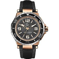 Guess X79002G2S - Reloj con correa de piel para hombre, color negro/gris