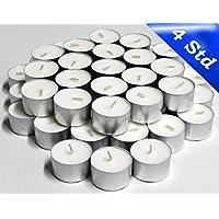 nk candles - 300lumini, 4ore di durata, senza profumo, alta qualità, anche per gastronomia, colore: bianco