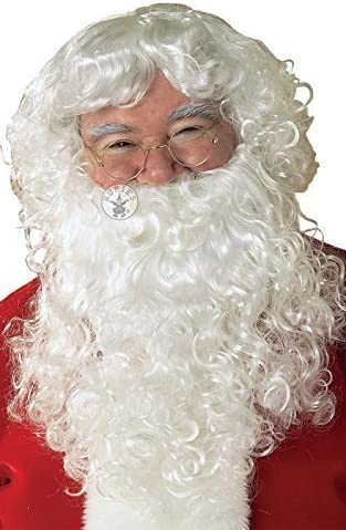 Adult Hommes s Economy Santa Beard And And And Wig Set for Christmas Fancy Dress Accessory by Pams c6021d