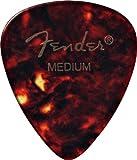 Fender 351 Classic Celluloid Picks 12-Pack (Tortoise Shell) Medium- Lot de 12 médiators
