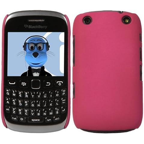 iTALKonline BlackBerry 9315 Curve ROSA Difficile Saluto dura della cassa della pelle Soft Grip Slim