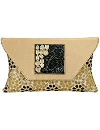 SAISHA Women's Handbag (Gold & Black) (FCB0052)