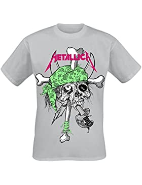 Metallica Flou Pirate Zinc Camiseta Gris