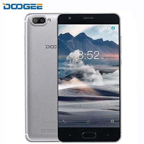 Smartphone ohne Vertrag, DOOGEE X20L Dual SIM Guenstig Handys, 4G Android 7.0 Senioren Smartphones, 5 Zoll HD IPS Display Handy mit MT6737 Quad Core, 2GB RAM + 16GB ROM, 2.0MP + Dual 5.0MP kamera - Sliber