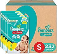 Pampers Pants with Aloe Vera,Size Small 4-8kg, (232 Counts)