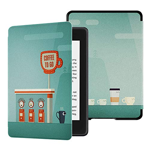 Cover Kaffee (Huasiru Gemälde Hülle Schutzhülle Kindle Paperwhite (10. Generation, 2018 Veröffentlicht) Case Cover, Kaffee)