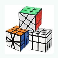 COOJA Cubo Mágico Paquete, Formas Irregulares Speed Cube Square 1 + Windmill + Espejo, Profesional Cubo de Velocidad