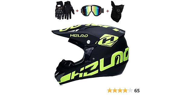 Cheyal Motorradhelm Cross Helme Schutzhelm Motocross Helm Für Motorrad Crossbike Off Road Enduro Sport Mit Handschuhe Sturmmaske Und Brille 58 59cm Gelb Fluoreszenz Sport Freizeit