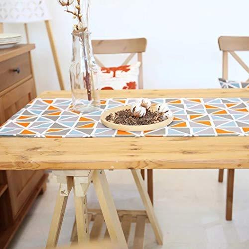 GOWINEU Nordic Baumwolle & Leinwand Geometrische Luxuri?se Bett Flagge Tischl?Ufer Esstisch Tischsets Home Hotel Dekoration -