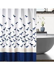 D G F Cortina de la ducha de PEVA Cuarto de baño interno Calidad más gruesa Impermeable Cortina transpirable antiniebla Multi-tamaño Opcional ( Tamaño : 180*200cm )