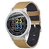 Fuibo Smartwatch, Herzfrequenzaktivität Schrittzähler Kalorienüberzug Smart Armband Armbanduhr Sport Fitness Tracker Armband für Frauen Männer (Gelb)