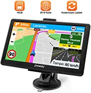 Navigationsgerät für Auto Navigation GPS Navi LKW Navigationssystem PKW 7 Zoll 16GB Lebenslang Kostenloses Kartenupdate mit