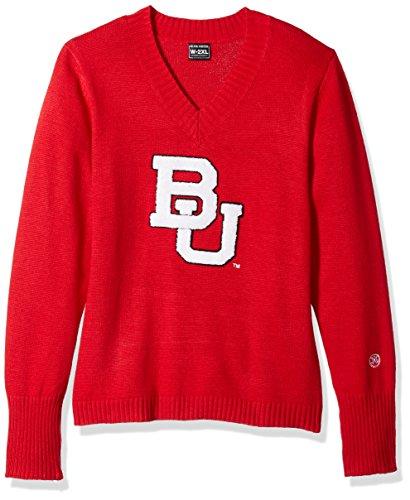 Alma Mater NCAA Damen Pullover Boston University Terriers V-Neck Sweater, Größe XXL, Karminrot Boston Terrier Sweatshirt