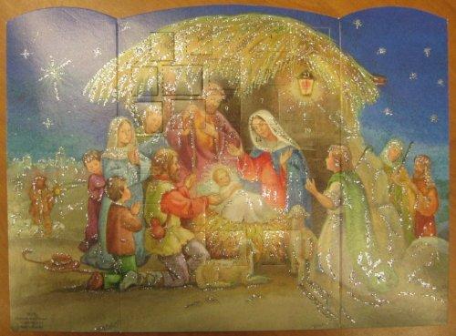 Religiöser Glitzer-Adventskalender