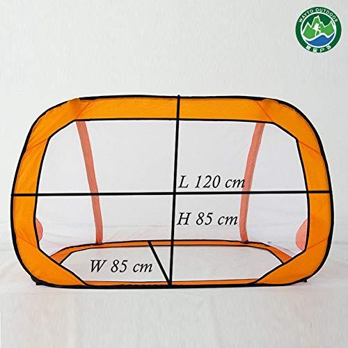 l Fußball Tor Net Folding Trainingsziel Net Zelt Kinder Kinder Spielzeug,Orange ()