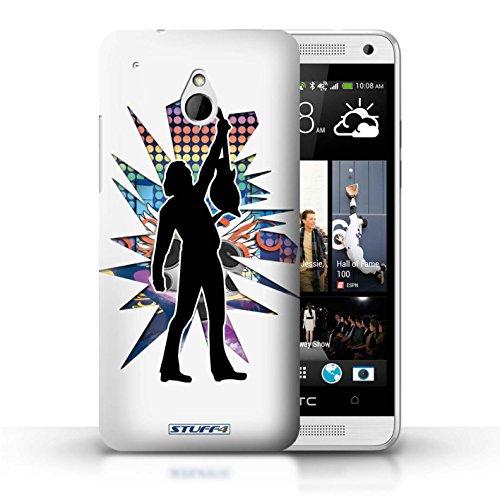 Kobalt® Imprimé Etui / Coque pour HTC One/1 Mini / Atteindre Blanc conception / Série Rock Star Pose Atteindre Blanc