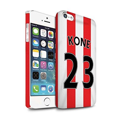 Offiziell Sunderland AFC Hülle / Matte Snap-On Case für Apple iPhone SE / Pack 24pcs Muster / SAFC Trikot Home 15/16 Kollektion Kone