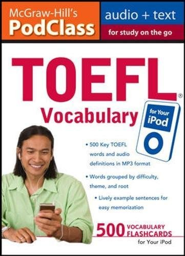 TOEFL Vocabulary for Your iPod [With 16-Page Booklet] (Mcgraw-hill's Podclass)