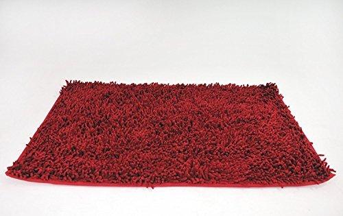 Casual Home Badteppich (Tache rund und rechteckig Solid Himbeer Rot Shag 100% Baumwolle Chenille Mats Teppiche, baumwolle, rot, 20