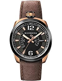 BOMBERG BOLT 68 HOMME 45MM BRACELET CUIR MARRON QUARTZ MONTRE 45GMTTT.006.3