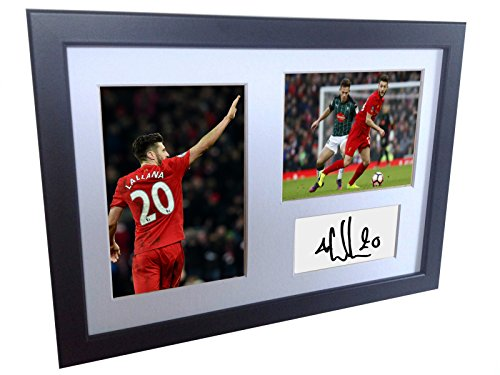 Signed Adam Lallana Liverpool FC Autographed Photo Photograph Picture Frame Print A4