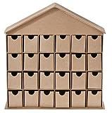 matches21 Adventskalender Haus zum Selbstgestalten aus Kartonage 35x37x9 cm ohne Dekoration