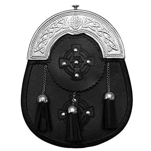 Preisvergleich Produktbild Eleganter Kiltsporran mit keltischem Zwiesel und kostenlosem Gürtel