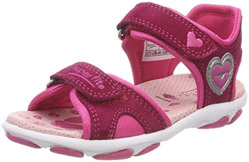 Superfit Mädchen Nelly 1 Offene Sandalen, Pink (Berry Kombi), 27 EU