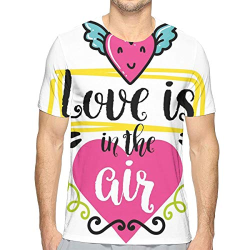 0203cf370e7d 3D Printed T Shirts For Mens,I Love Your Kisses Grungy Looking Valentines  Phrase with