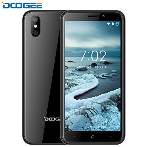 Smartphone Ohne Vertrag Guenstig, DOOGEE X50 Dual Sim Guenstig Handys, 3G Android 8.1 Senioren Smartphones, 5 Zoll IPS Display Handy mit MT6580M Prozessor, 1GB RAM + 8GB ROM, 5.0MP Kamera - Schwarz