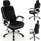 Chaise fauteuil de bureau Confort Noire - Inclinable et réglable en...