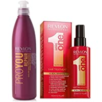 Revlon UniqOne Tratamiento 150ml + Revlon ProYou Champu Repair 350 ml